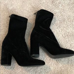 Velvet sock booties